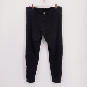 Calvin Klein Black Leggings Ankle Zipper